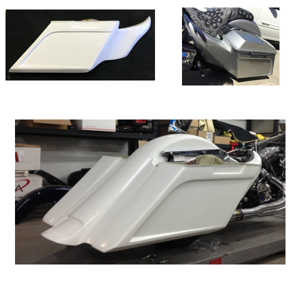 SOFTAIL INLAID SADDLEBAGS WITH MOLDED SIDE COVERS